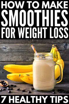 Simple Meal Prep: 40 Make Ahead Breakfast Smoothies for Weight Loss - Smoothies Diet Weight Loss Breakfast Smoothies For Weight Loss, Breakfast Smoothie Recipes, Weight Loss Smoothies, Strawberry Banana Smoothie, Fruit Smoothies, Healthy Smoothies, Simple Smoothies, Smoothie Diet, Ginger Smoothie