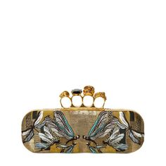 Jacquard Dragonfly Knucklebox Clutch by Alexander McQueen