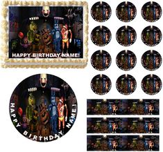 Five Nights at FREDDY'S Edible Cake Topper by EdiblePartyImages