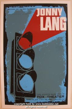 Jonny Lang - silkscreen concert poster (click image for more detail) Artist: Todd Slater Venue: Fox Theatre Location: Boulder, CO Concert Date: 3/23/2005 Edition: Artist Proof; signed and marked AP Si