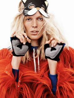 visual optimism; fashion editorials, shows, campaigns & more!: animal magic: iselin steiro by josh olins for uk vogue october 2014