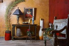 Home furnishings and décor for Southwest living. Tuscan Style Homes, Hacienda Style, Spanish Colonial, Decorative Accessories, Home Furnishings, Rustic, Painting, Design, Country Primitive