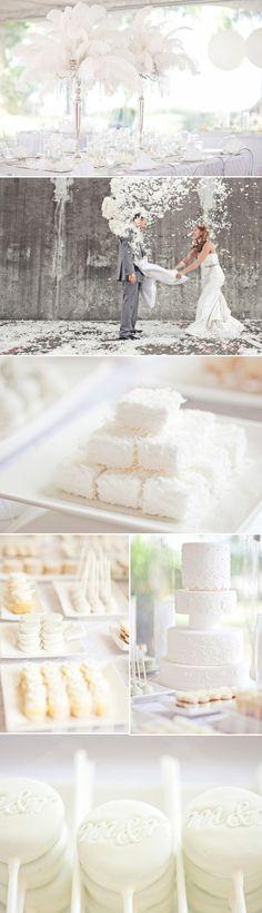 Feather themed wedding ideas