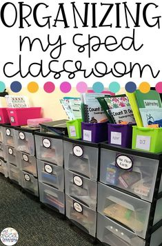 Looking for new ideas on how to organize your special education classroom?, EDUCATİON, Looking for new ideas on how to organize your special education classroom? Here are a few ways I keep my self contained classroom running smoothly! Life Skills Classroom, High School Classroom, Autism Classroom, Classroom Ideas, Future Classroom, Inclusion Classroom, Classroom Layout, Curriculum, Teaching Special Education