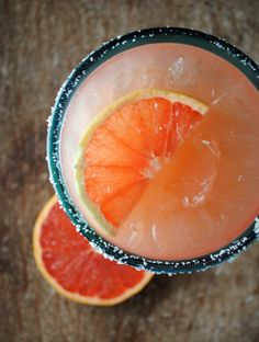 grapefruit margarita - Wow, strong...but good. I didn't add the agave because I like my margs tart.