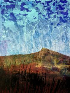 Art by Lucy Brydon : January 2015 blending photo with gelli print with photoshop