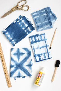 DIY Shibori Indigo Dye Bookmarks | alice & lois