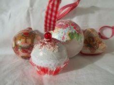 Vianočné polystyrénové gule