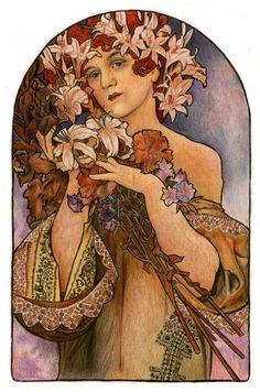 mucha__s_flowers_by_niuta71.jpg (900×1360)