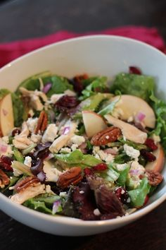 Chicken, Cranberry, Apple and Pecan Salad