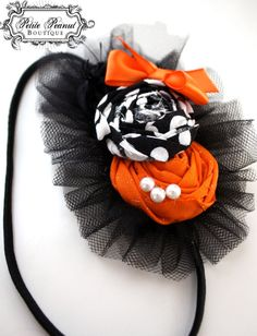 headband idea ...I just need tulle for the flowers (and a different color scheme)