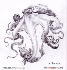 octopus tattoo - Love this!!! Except holding things like a spatula, a mop, a baby bottle, a beer bottle...