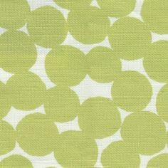 Hay Bales in Moss | Clay McLaurin #textiles #fabric #linen #cotton #polkadot #circles #green
