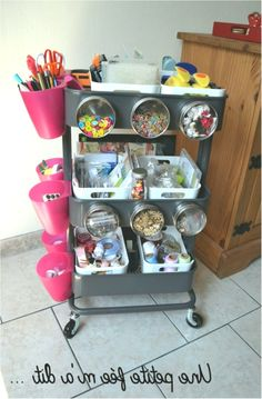 36 Creative ways to use the RÅSKOG Ikea kitchen cart - Malen - Art Room Kitchen Furniture, Home Furniture, Kitchen Decor, Ikea Kitchen Trolley, Ikea Raskog Cart, Cool Rooms, Cool Kitchens, Dining Chairs, Storage