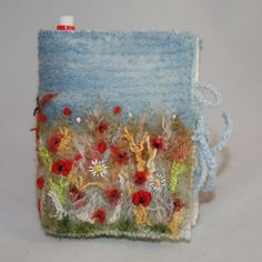 Harvest  Embroidered and Felted Sticky Notes and by Lynwoodcrafts