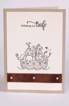 Einladungskarten - Einladung zur Taufe | Arche Noah | handgemacht - ein…