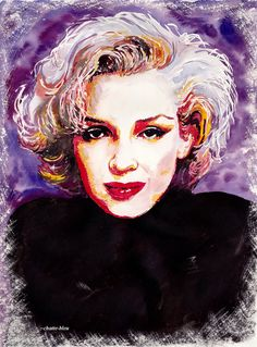 Marilyn by ~chatte-bleu on deviantART  | This image first pinned to Marilyn Monroe Art board, here: http://pinterest.com/fairbanksgrafix/marilyn-monroe-art/ || #Art #MarilynMonroe
