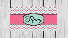 Personalized Monogrammed Chevron Hot Pink Light by TopCraftCase