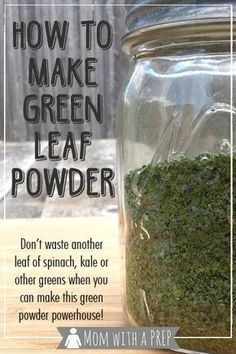 Don't let that pile of greens in your crisper drawer going bad shame you. Show them what for by dehydrating them and making this powerhouse of a powder to add more nutrition to your family meals! Dehydrated Vegetables, Dehydrated Food, Homemade Seasonings, Homemade Spices, How To Make Greens, Green Powder, Dehydrator Recipes, Spice Mixes, Canning Recipes