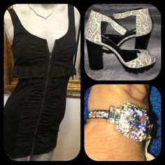 ❤️Date night outfit❤️ Steve Madden mini. Small   Chunk heels size 9. Stunning ring to catch anyone's eyes size 8. Bundle the 3 and get 15% off Steve Madden Other