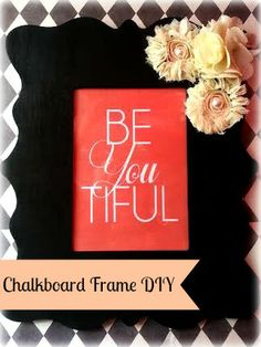 Chalkboard  Frame DIY