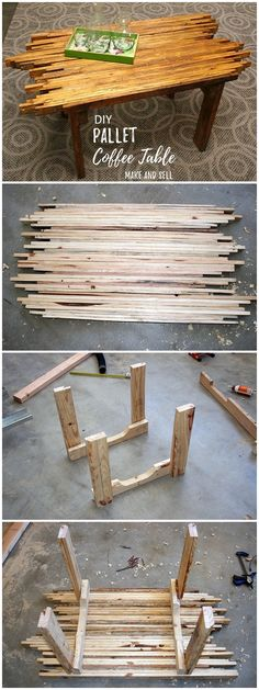 Check out this easy idea on how to make a #DIY #pallet coffee table that you can make and sell #crafts #homedecor #project @istandarddesign