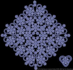 Tatted Lace Designed by Teri Dusenbury ........ no pattern, only inspiration. But they are a treat to the eyes & a challenge to attempt !
