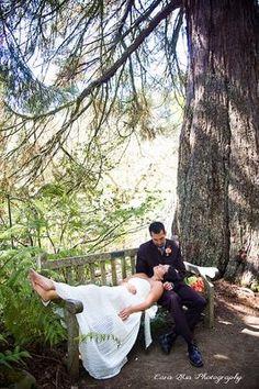 Tamra and Roberto: another beautiful wedding in the UC Botanical Garden's Redwood Grove.