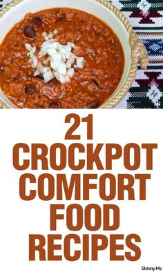 Winter is all about comfort foods--try these 21 Crockpot Comfort Food Recipes and stay warm!