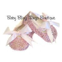 Completely Covered Bling Ballet Shoes 0-6 months