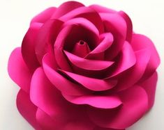 PDF Tiny Rose 3 Paper Flower 6 Different sizes Trace and   Etsy Large Paper Flowers, Paper Flower Wall, Tiny Flowers, Flower Petals, Flower Petal Template, Flower Tutorial, Word Doc, Cricut, How To Make Paper