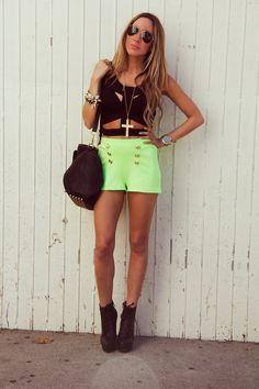 J Crew Broken in Chino Lime Green Shorts Women's Sz 2 | eBay ...