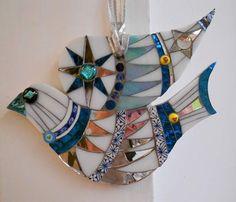 Winter Dove by Freshwater Mosaics  #FreshwaterMosaics