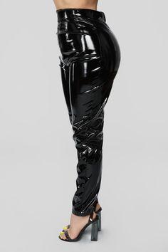 Miss Behaving Pant Set - Black – Fashion Nova Pvc Leggings, Leather Leggings, Disco Pants Outfit, Corset Blouse, Trousers, Womens Fashion, Sleeves, How To Wear, Outfits