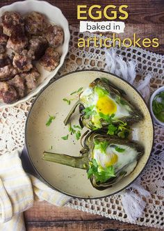 Eggs Baked in Artichokes — Foraged Dish