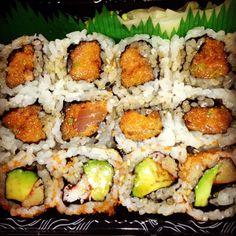 spicy tuna and california roll