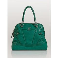 GUESS Sidney Dome Satchel, BOTTLE GREEN  http://beso.ly/rd/4596024106?a=416213=1