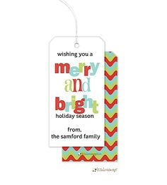 Personalized Holiday Gift Tags #HolidayGiftIdeas #ChristmasGiftIdeas