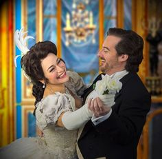 """Review in DC Metro Theater Arts: """"Rolando Sanz as Violetta's lover Alfredo Germont was superb and his thrilling tenor voice filled the auditorium during the rendition of Libiamo ne' lieti calici."""" (Fairfax, VA)"""