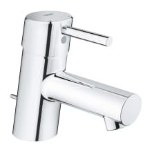 Concetto 1.2 GPM Single Hole Bathroom Faucet with SilkMove, EcoJoy, and QuickFix Technologies (Includes Metal Pop-Up Drain Assembly )