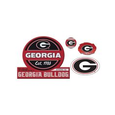 Georgia Bulldogs Game Day 4-Piece Magnet Set, Multicolor