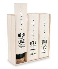 Love this Marketplace Birthday Three-Bottle Wine Box on #zulily! #zulilyfinds