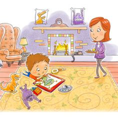 We Are Family, Children And Family, Children's Book Illustration, Kids And Parenting, Childrens Books, Character Design, Kids Rugs, Cartoon, Canvas