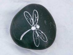 Dragonfly Engraved Stone by JustinRVisser on Etsy