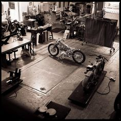 Falcon Motorcycles Man Shed.