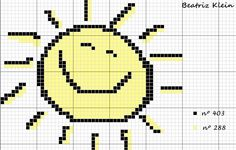 gráfico ponto cruz sol infantil