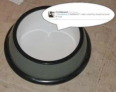 A #DiY #Dog bowl that sends a Tweet when it is empty. No, seriously.