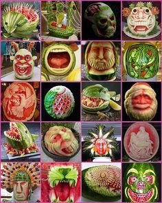 Watermelon Art! Holy smokes!