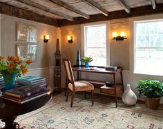 This Old House Bedford Elms Interior Design Rustic library