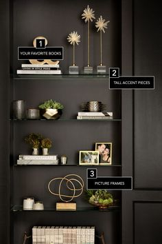 These are the things every well-styled bookcase has in common.